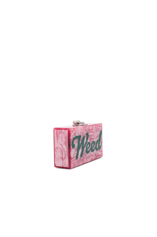 Image 3 of Edie Parker Jean Weed Clutch in Dusty Rose & Emerald