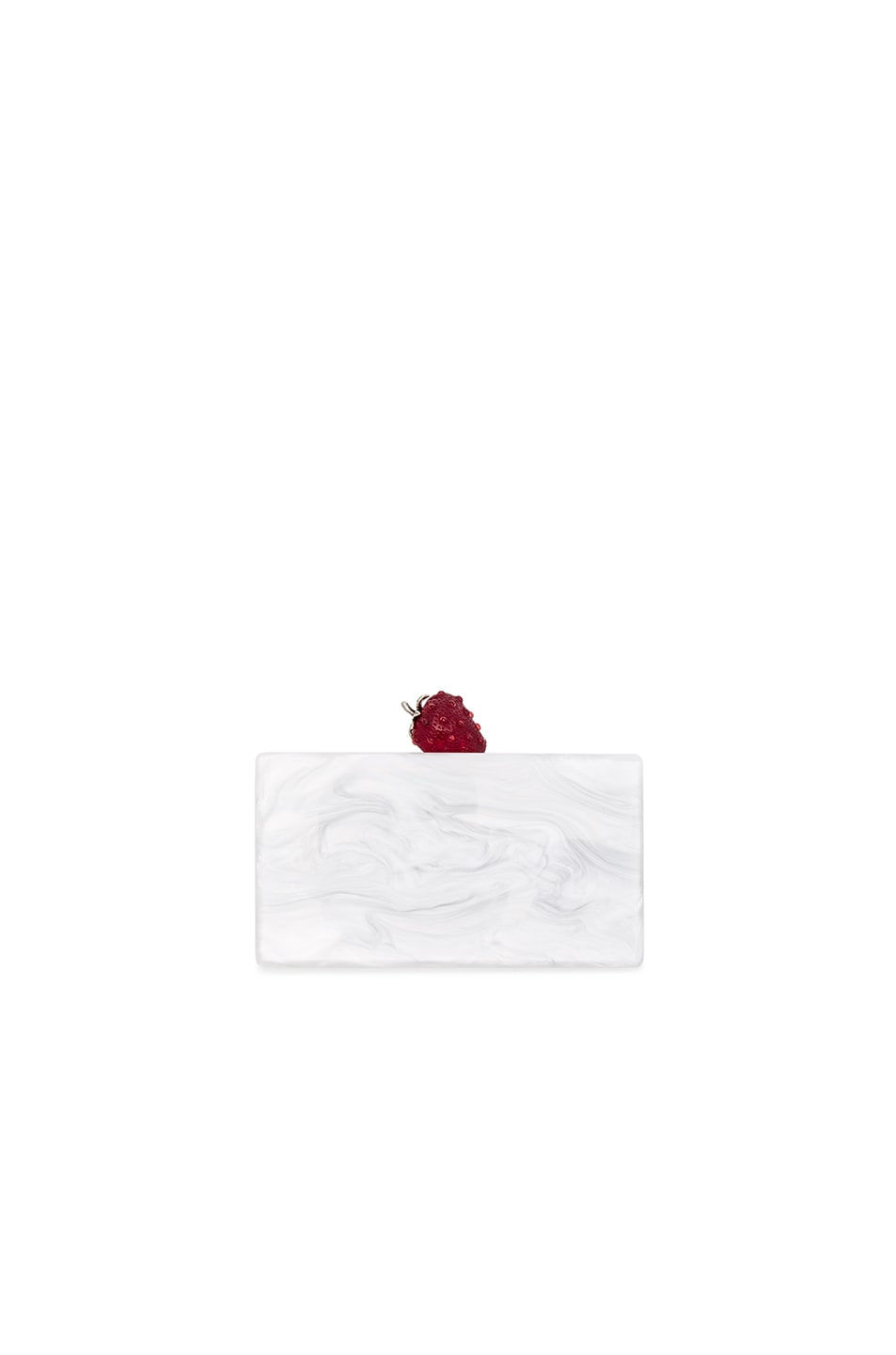 Image 1 of Edie Parker Jean Strawberry Clutch in White Pearlescent