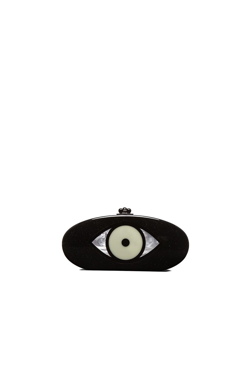 Image 1 of Edie Parker Edie Eye Clutch in Galaxy Glitter Multi