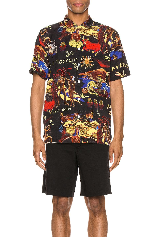 Image 1 of Endless Joy Temet Nosce Aloha Shirt in Black Multi