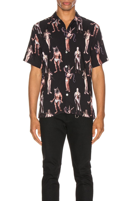 Image 1 of Endless Joy Hamlets Mill Aloha Shirt in Black & Multi