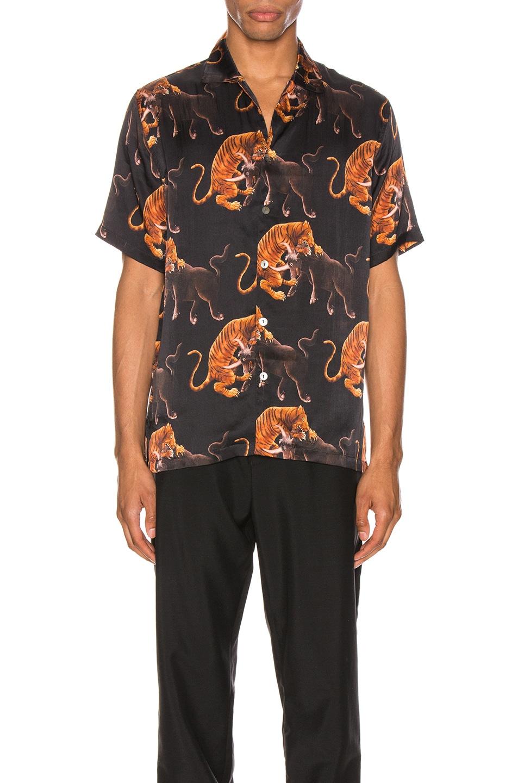Image 1 of Endless Joy Macan Aloha Shirt in Black & Multi