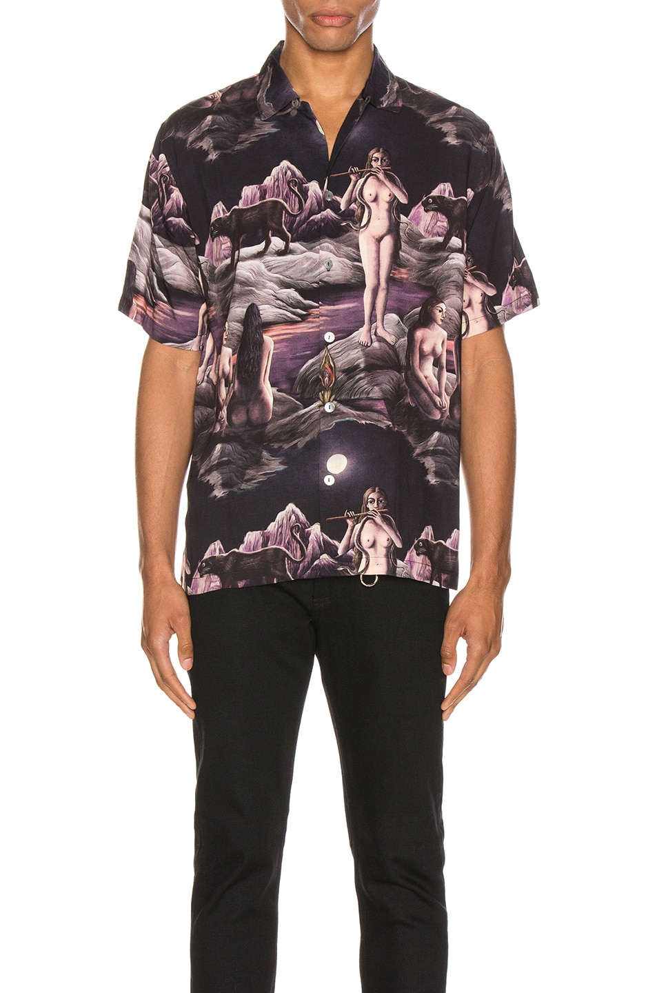 Image 1 of Endless Joy Midnight Aloha Shirt in Multi