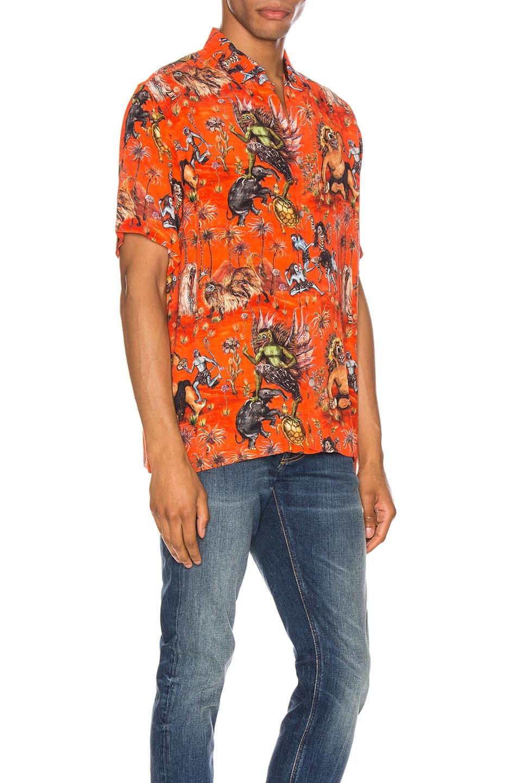Image 2 of Endless Joy Sekela Neskala Aloha Shirt in Tomato & Multi