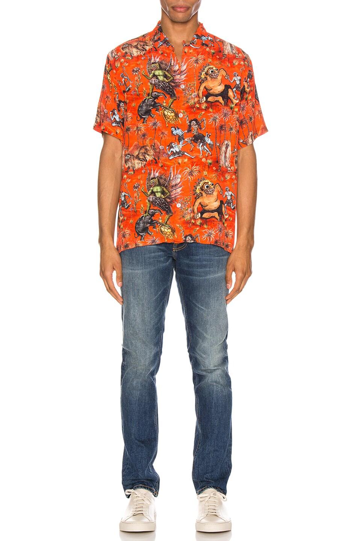 Image 5 of Endless Joy Sekela Neskala Aloha Shirt in Tomato & Multi