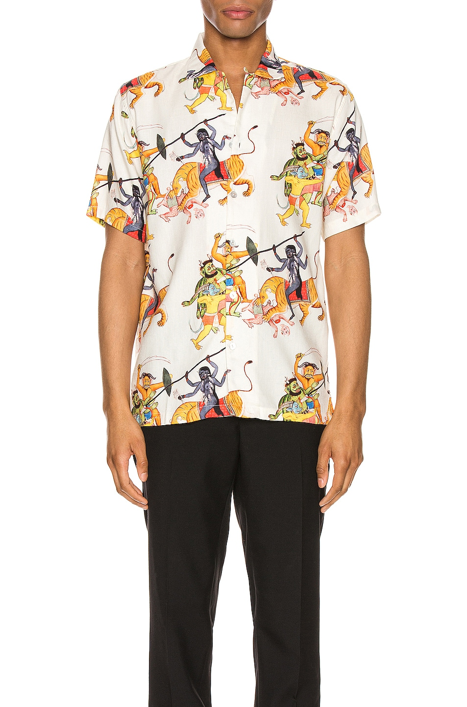 Image 1 of Endless Joy Kali Aloha Shirt in Bone Multi