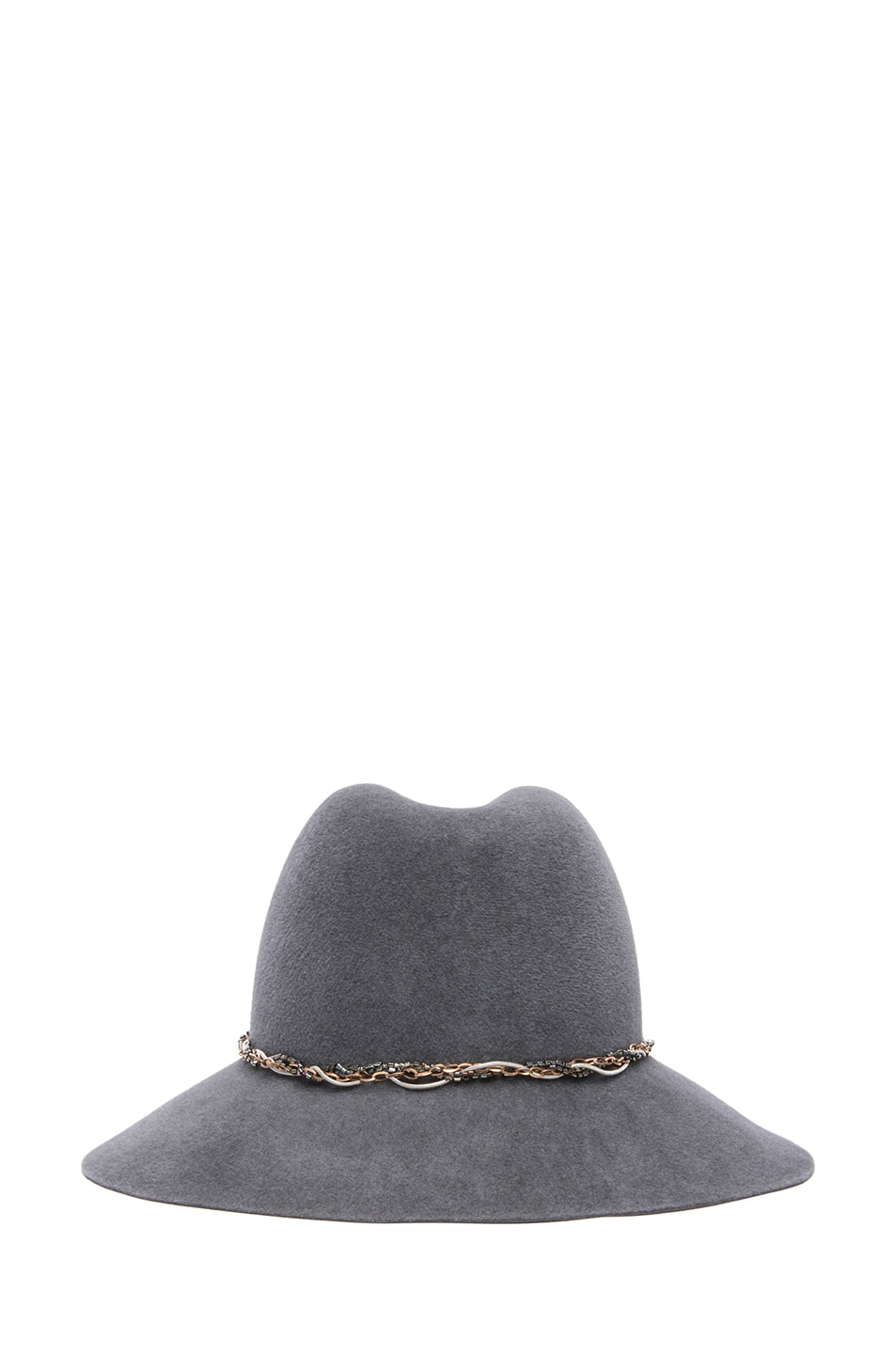 Image 4 of Eugenia Kim Farrah Floppy Hat in Charcoal