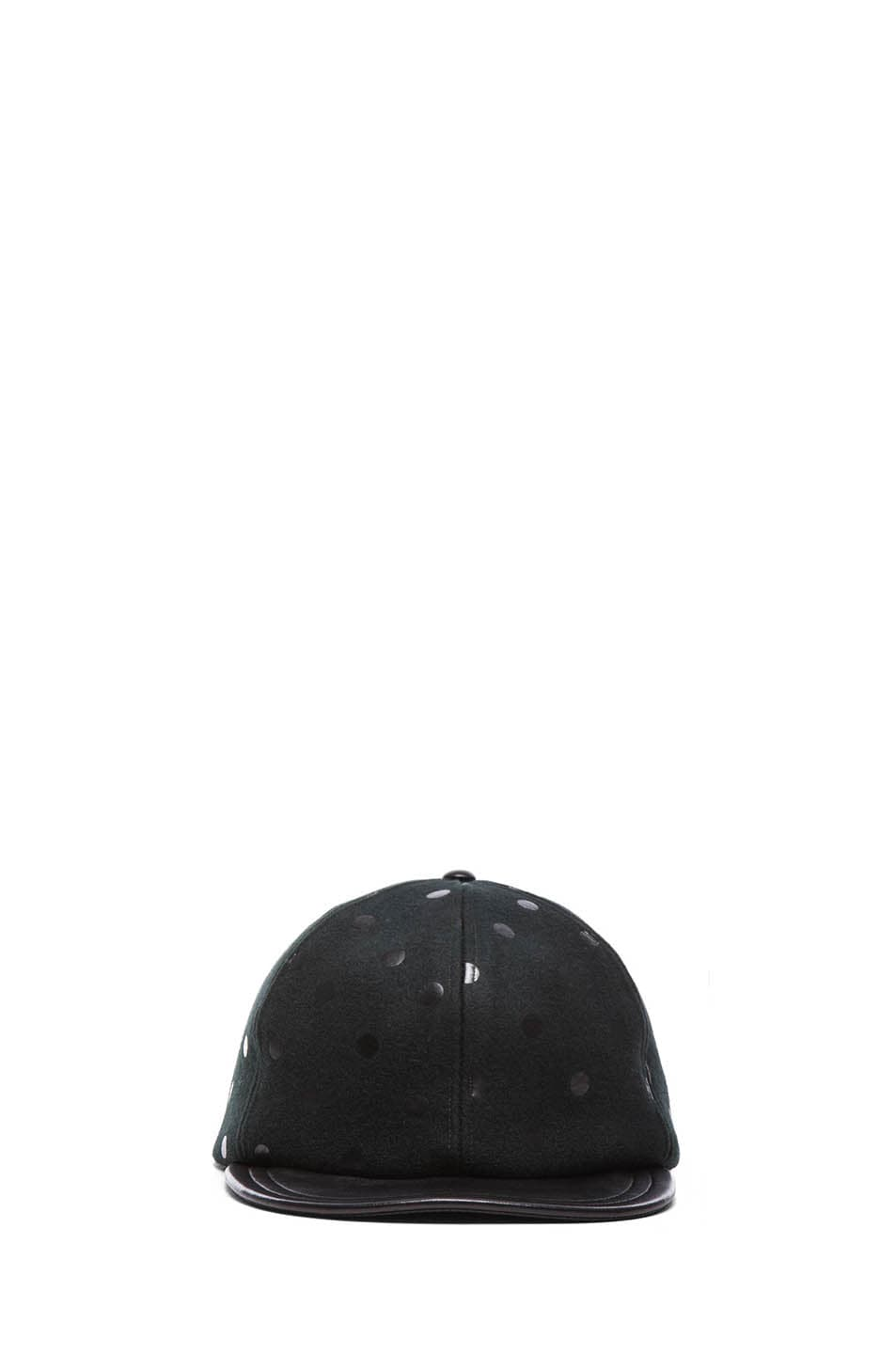 Image 1 of Eugenia Kim Darien Mixed Leather Cap in Black
