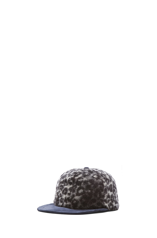 Image 2 of Eugenia Kim Darien Cap in Grey Leopard