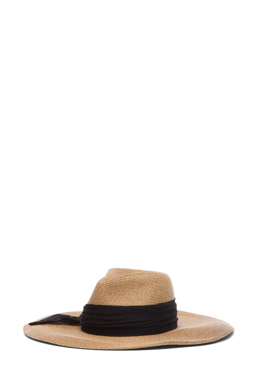 Image 2 of Eugenia Kim Cassidy Sun Hat in Camel & Black