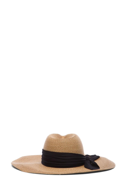 Image 4 of Eugenia Kim Cassidy Sun Hat in Camel & Black
