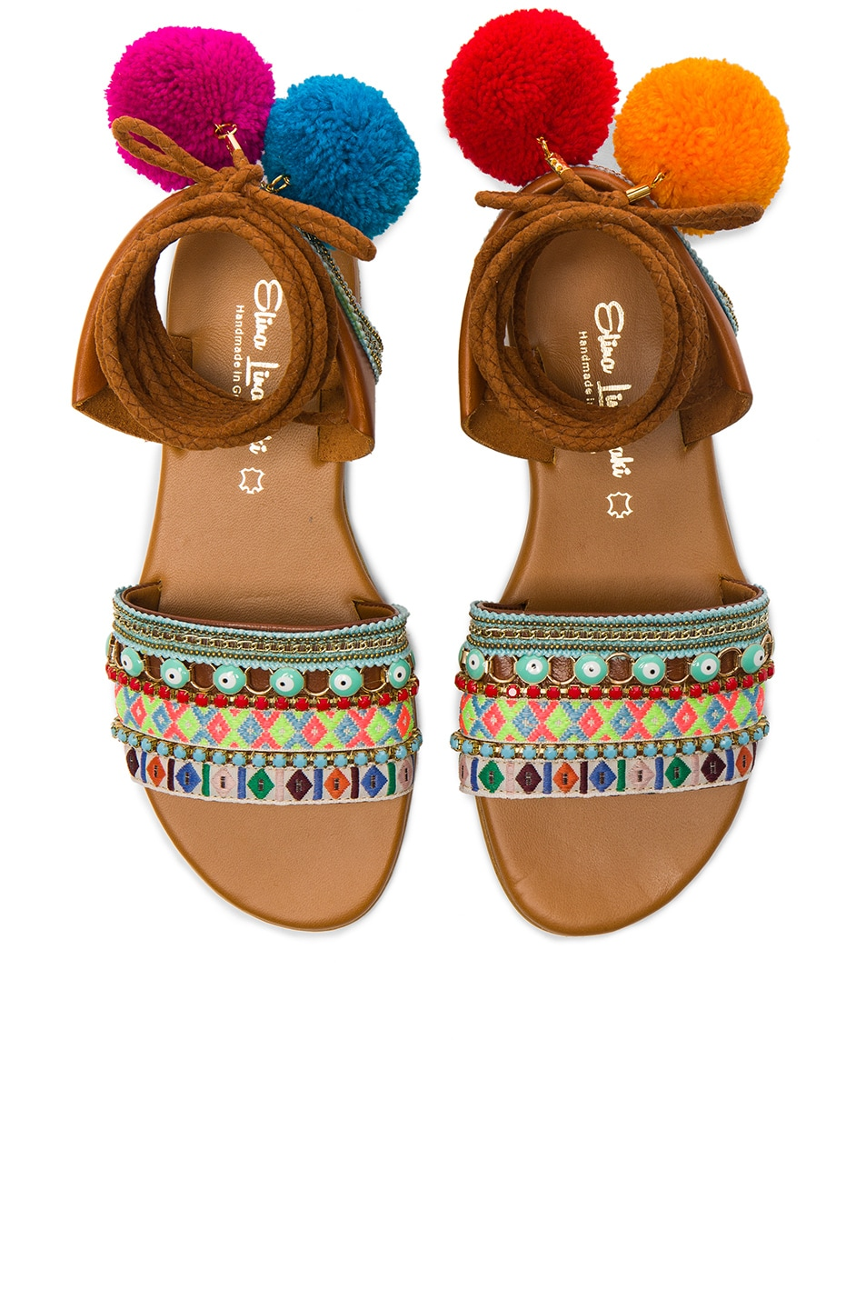Image 1 of Elina Linardaki LA Lover Sandals in Multi