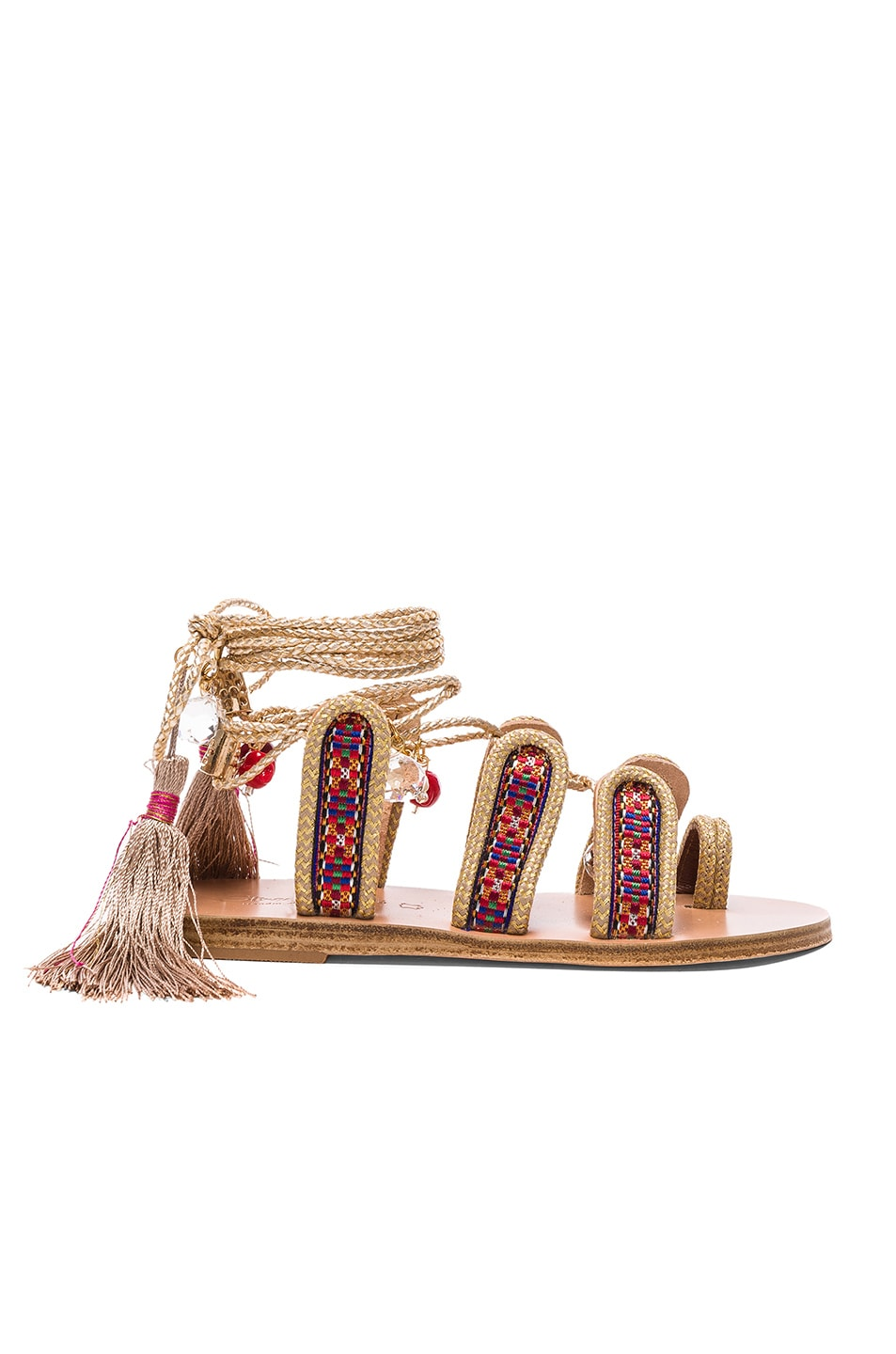 Image 2 of Elina Linardaki The Great Gatsby Sandals in Multi