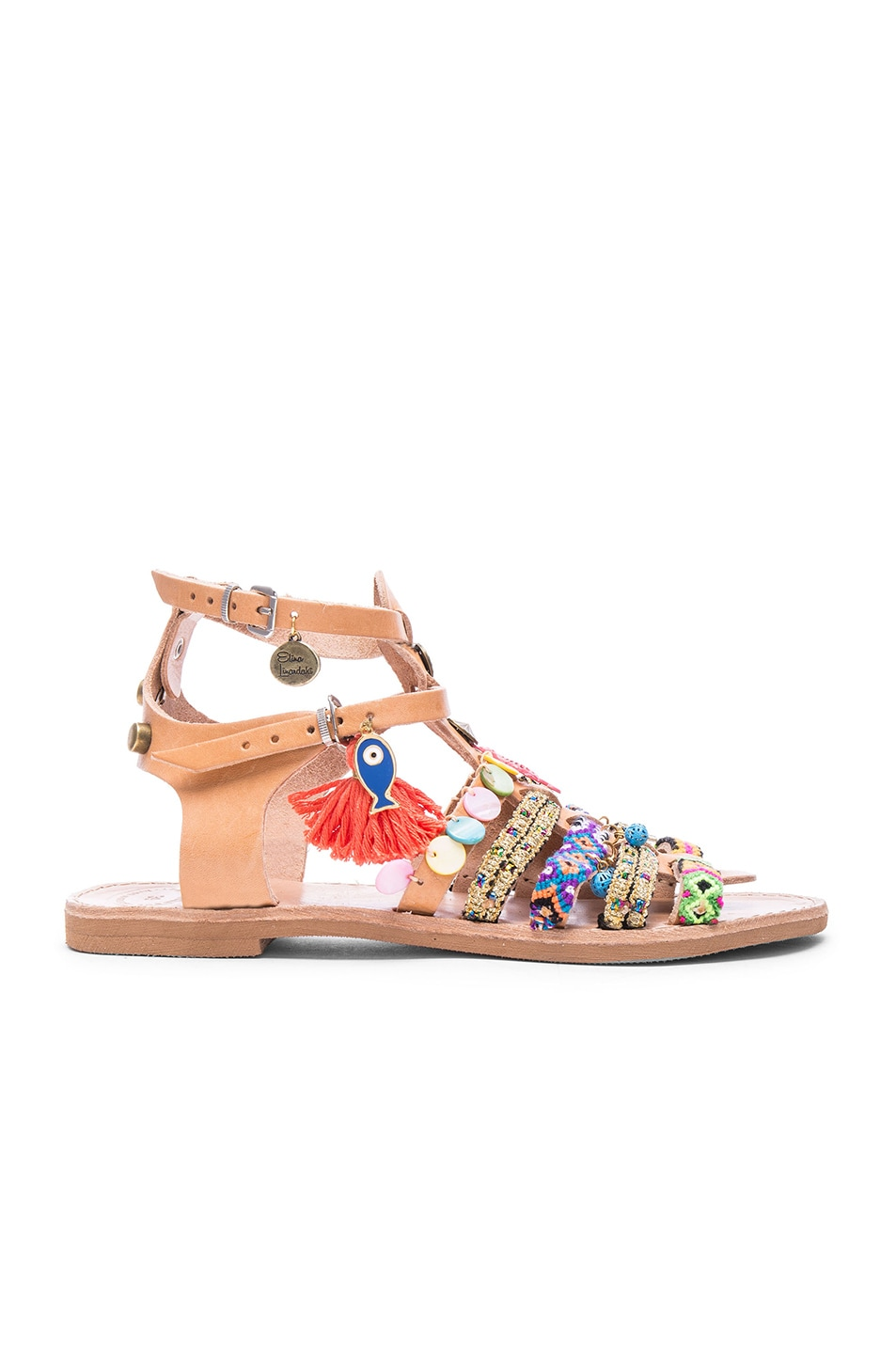 Image 2 of Elina Linardaki Saltwater Leather Sandals in Multi