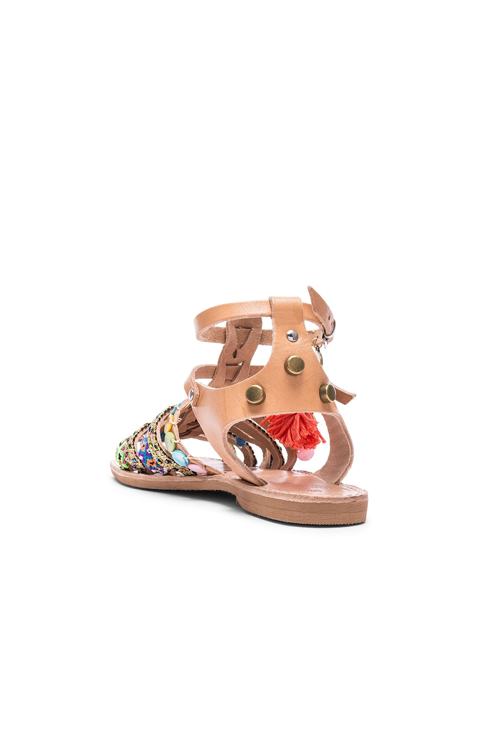 Image 4 of Elina Linardaki Saltwater Leather Sandals in Multi