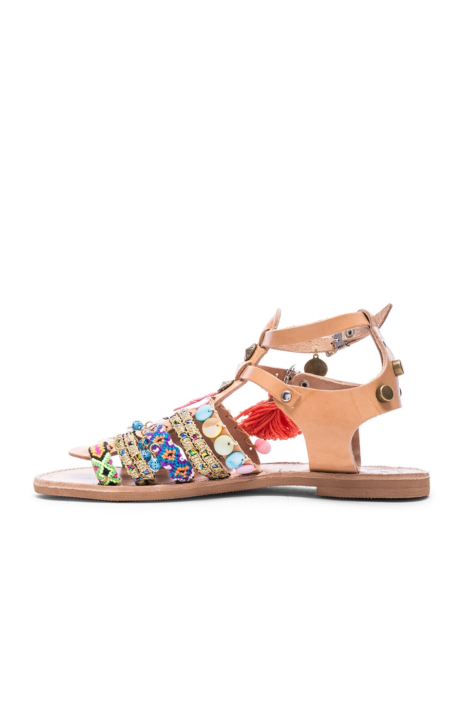 Image 5 of Elina Linardaki Saltwater Leather Sandals in Multi