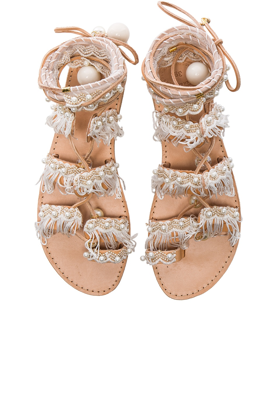 Image 1 of Elina Linardaki Leather Ever After Sandals in White