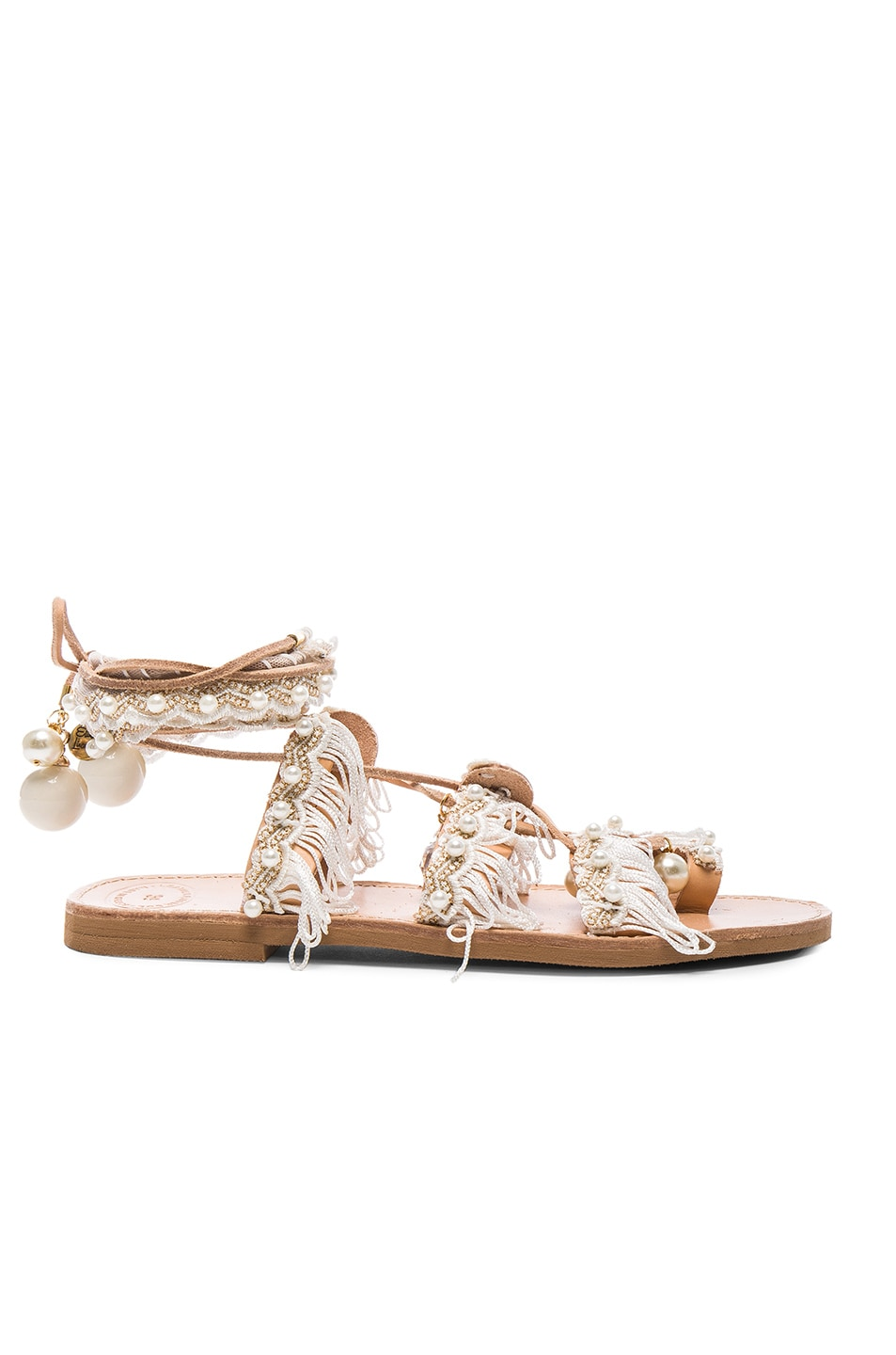 Image 2 of Elina Linardaki Leather Ever After Sandals in White