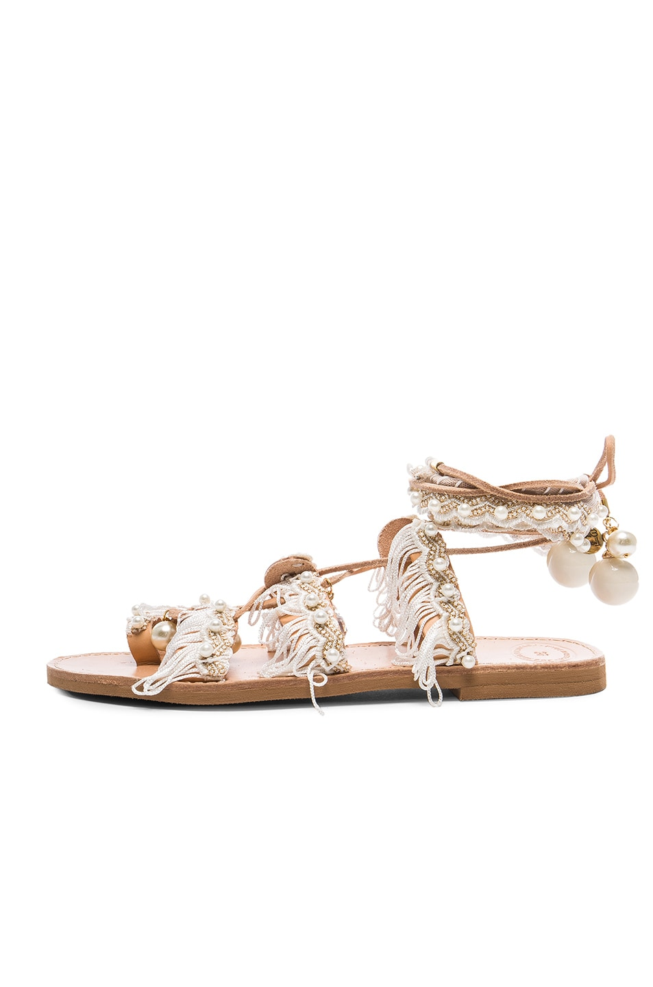 Image 5 of Elina Linardaki Leather Ever After Sandals in White