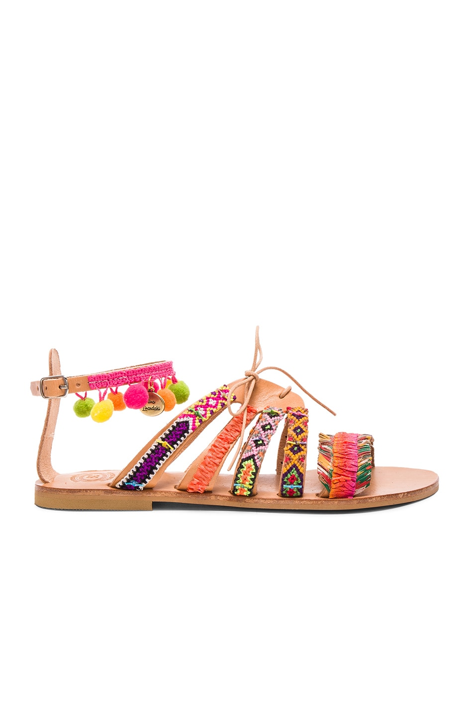 Image 2 of Elina Linardaki Leather Hula Hoop Sandals in Multi