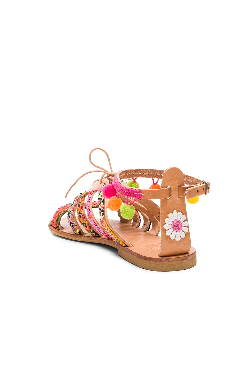 Image 4 of Elina Linardaki Leather Hula Hoop Sandals in Multi