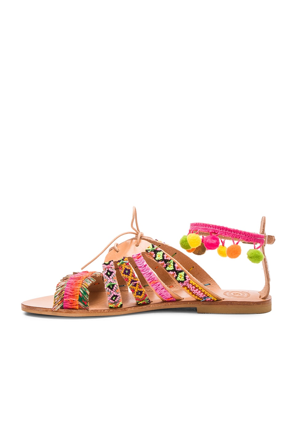 Image 5 of Elina Linardaki Leather Hula Hoop Sandals in Multi