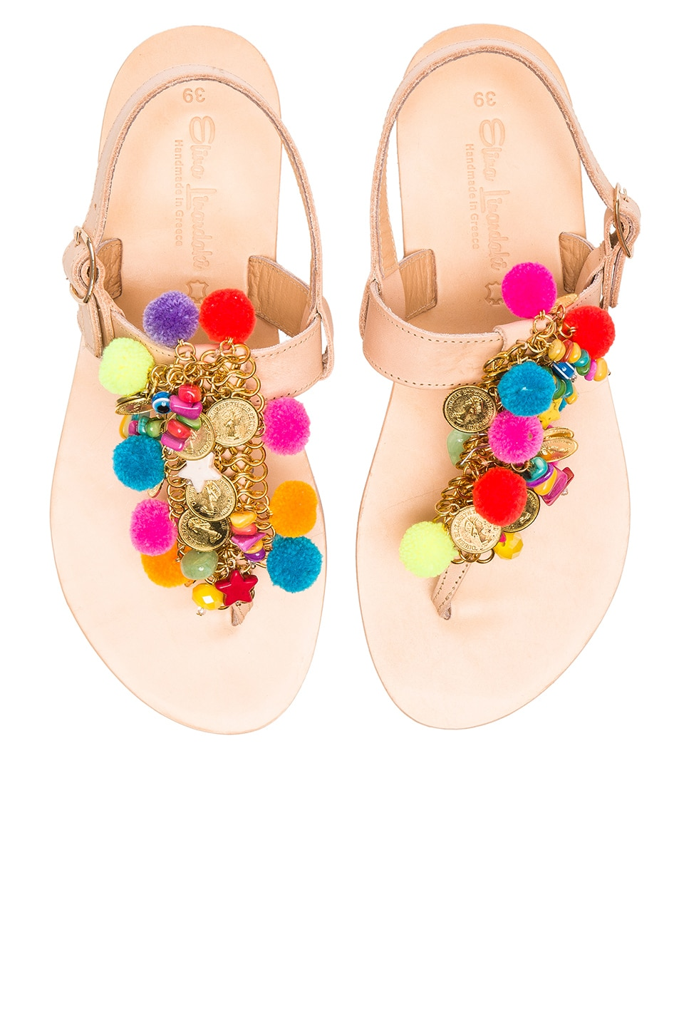 Image 1 of Elina Linardaki Leather Jelly Tots Sandals in Multi
