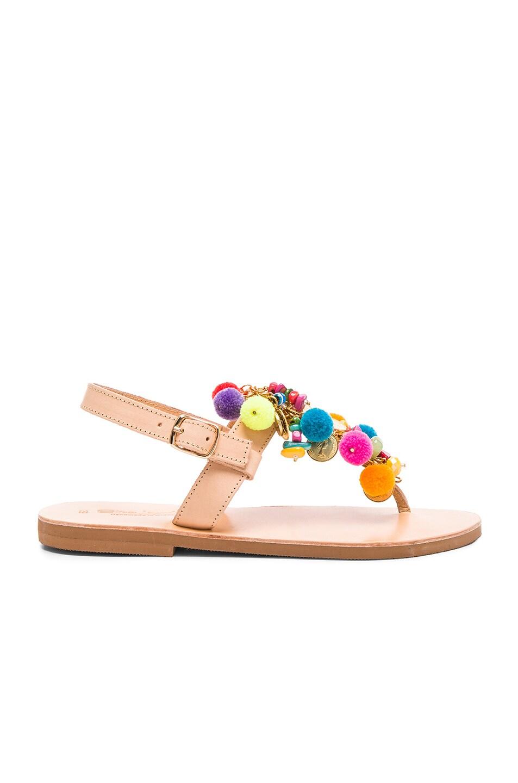 Image 2 of Elina Linardaki Leather Jelly Tots Sandals in Multi