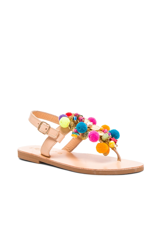 Image 3 of Elina Linardaki Leather Jelly Tots Sandals in Multi