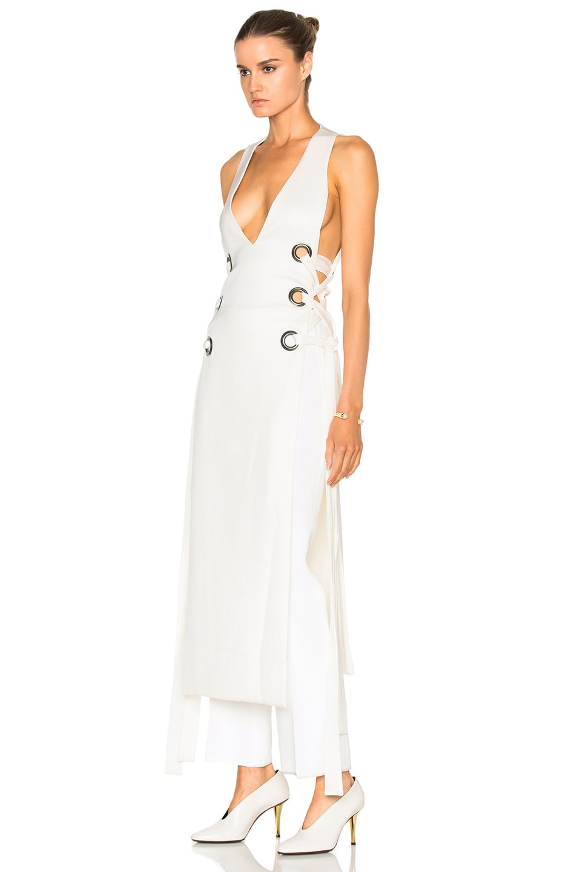 Image 2 of Ellery Utopian V Neck Dress in Ivory