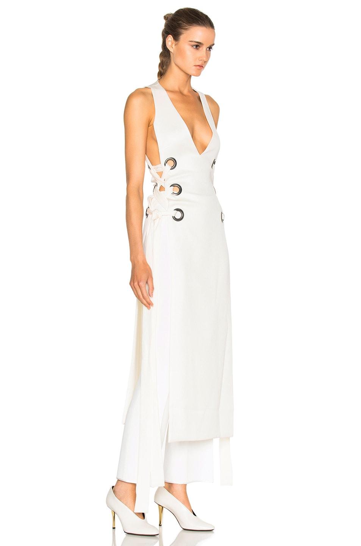 Image 3 of Ellery Utopian V Neck Dress in Ivory
