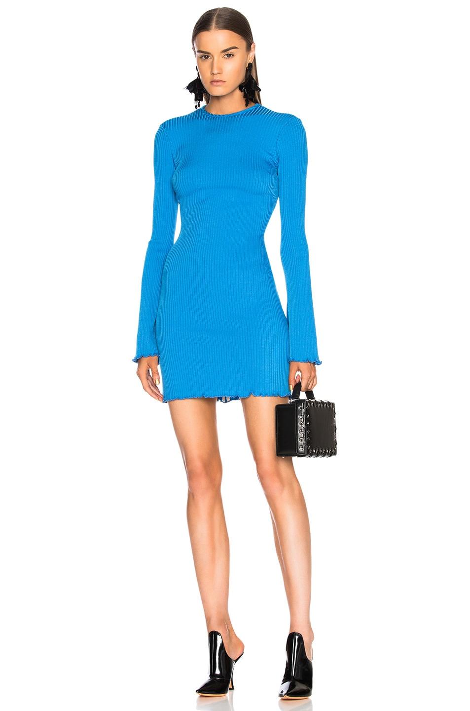 Ellery  ELLERY SUNSHINE KID MINI DRESS IN BLUE