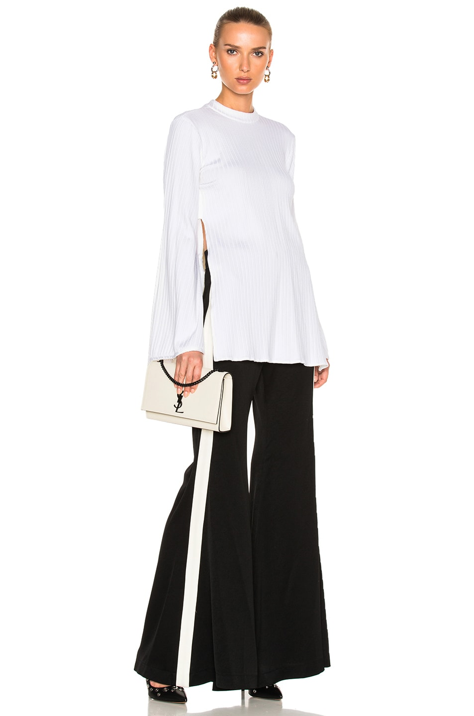 Image 1 of Ellery Teddy Girl Top in Ivory & White