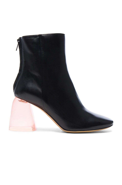 Image 1 of Ellery Leather Sacred Booties in Black & Pink