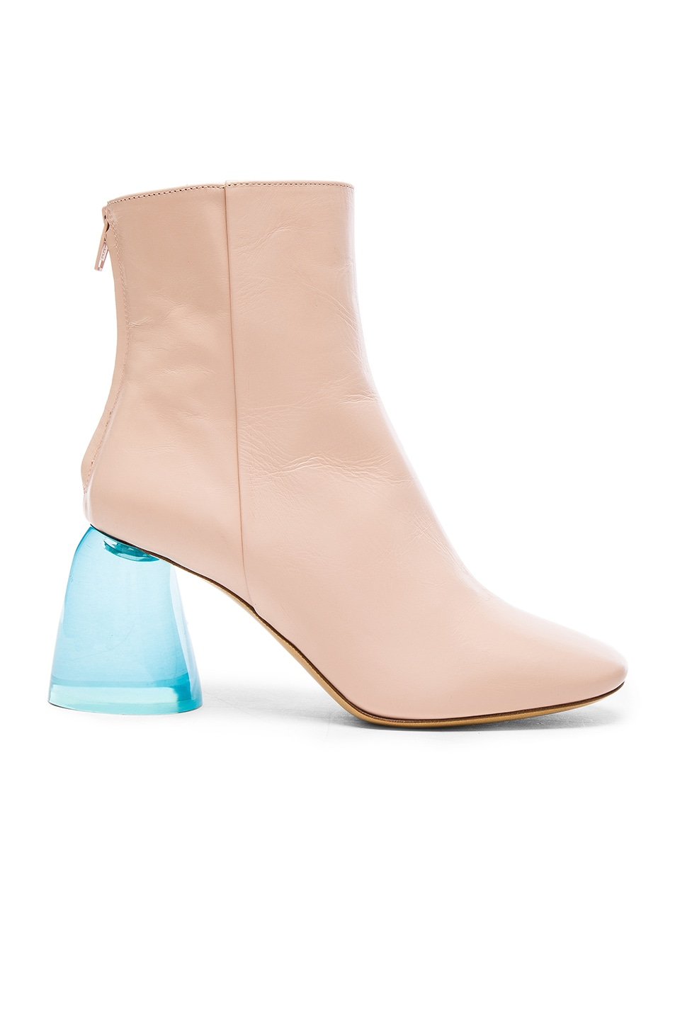 Image 1 of Ellery Leather Sacred Booties in Nude & Aqua