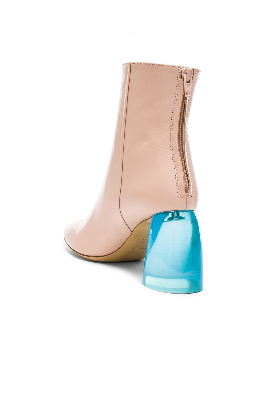 Image 3 of Ellery Leather Sacred Booties in Nude & Aqua