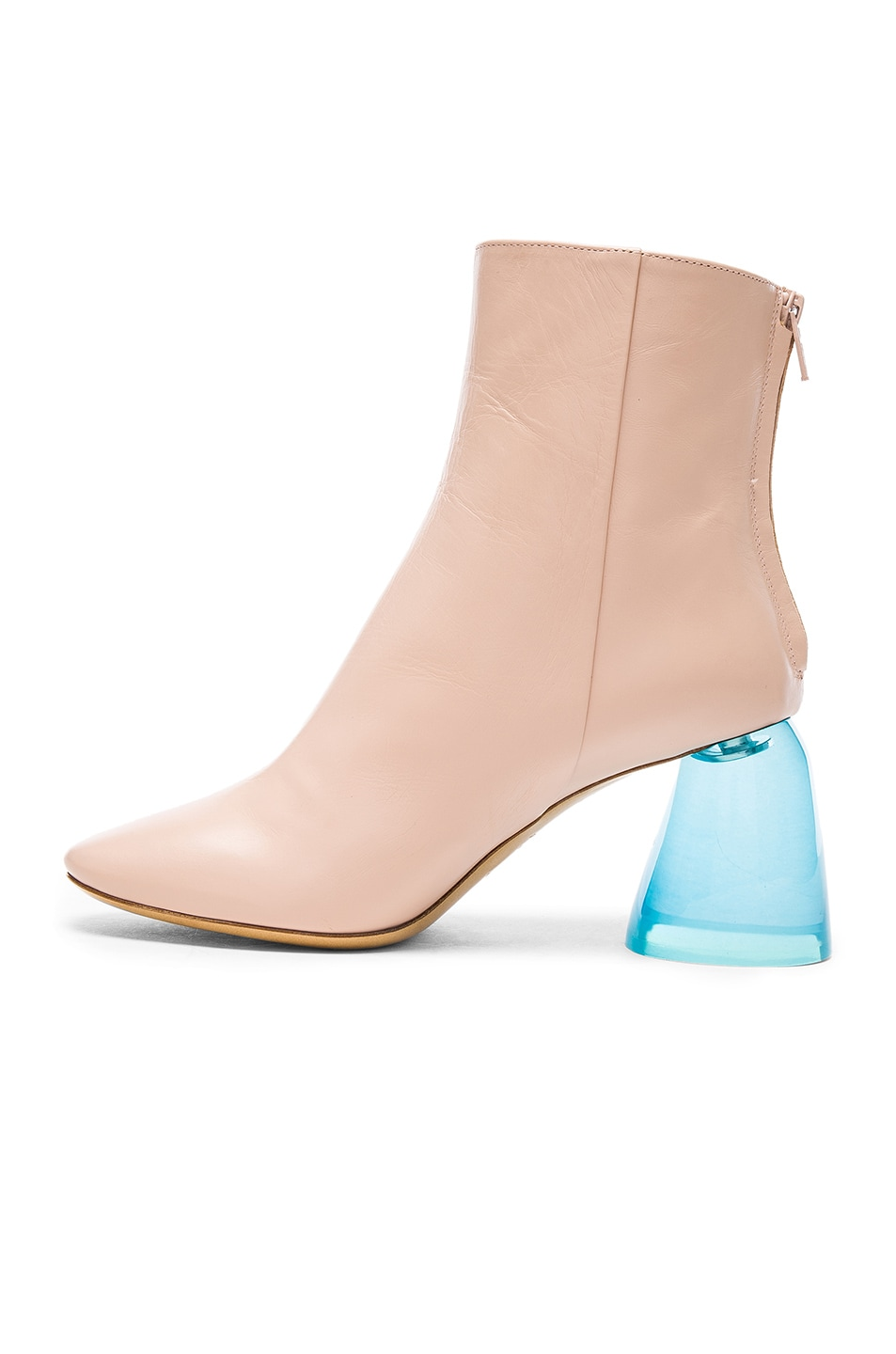 Image 5 of Ellery Leather Sacred Booties in Nude & Aqua