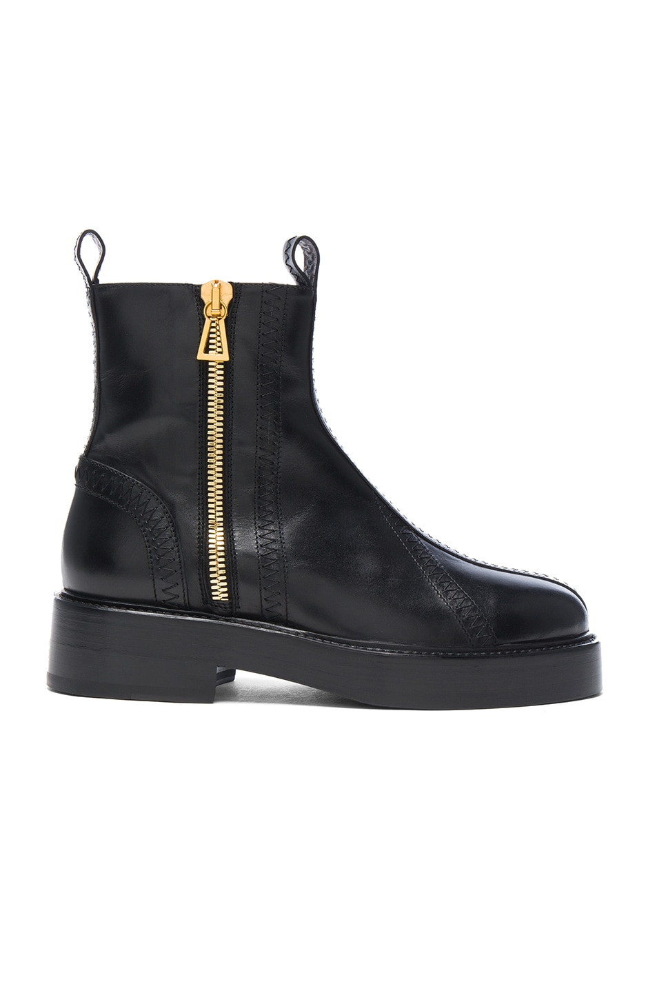 Image 1 of Ellery Leather Boots in Black & Gold