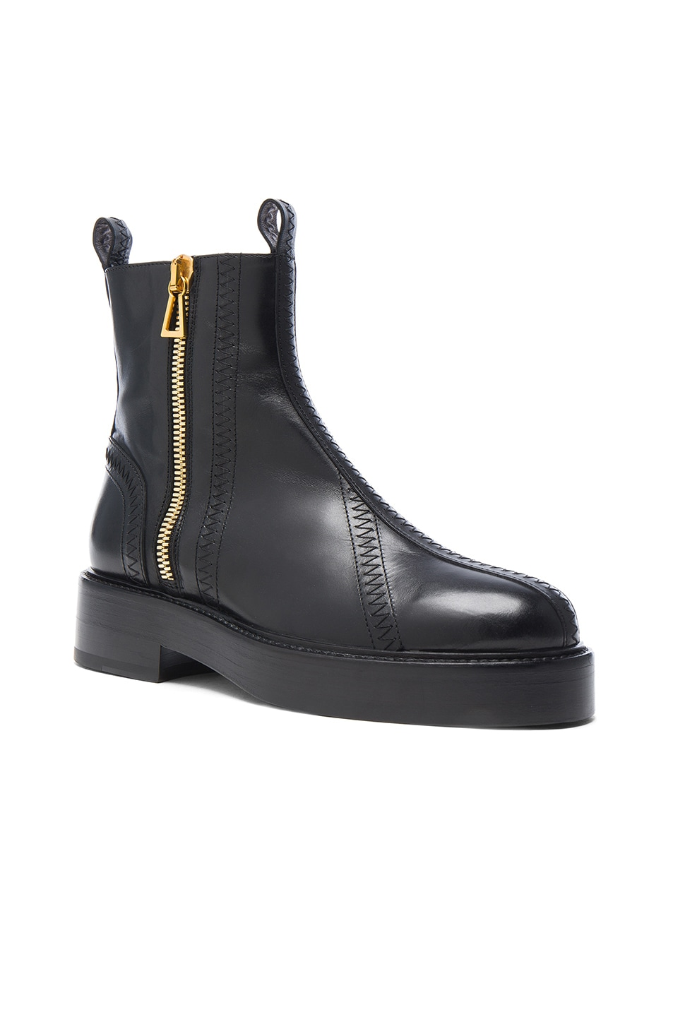 Image 2 of Ellery Leather Boots in Black & Gold