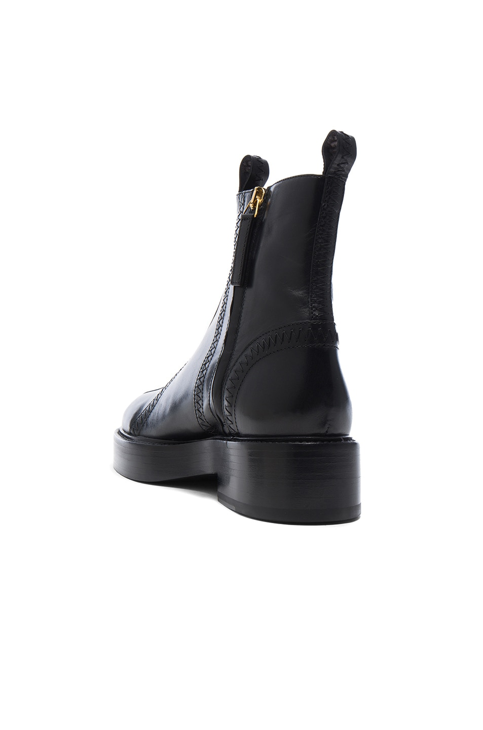 Image 3 of Ellery Leather Boots in Black & Gold