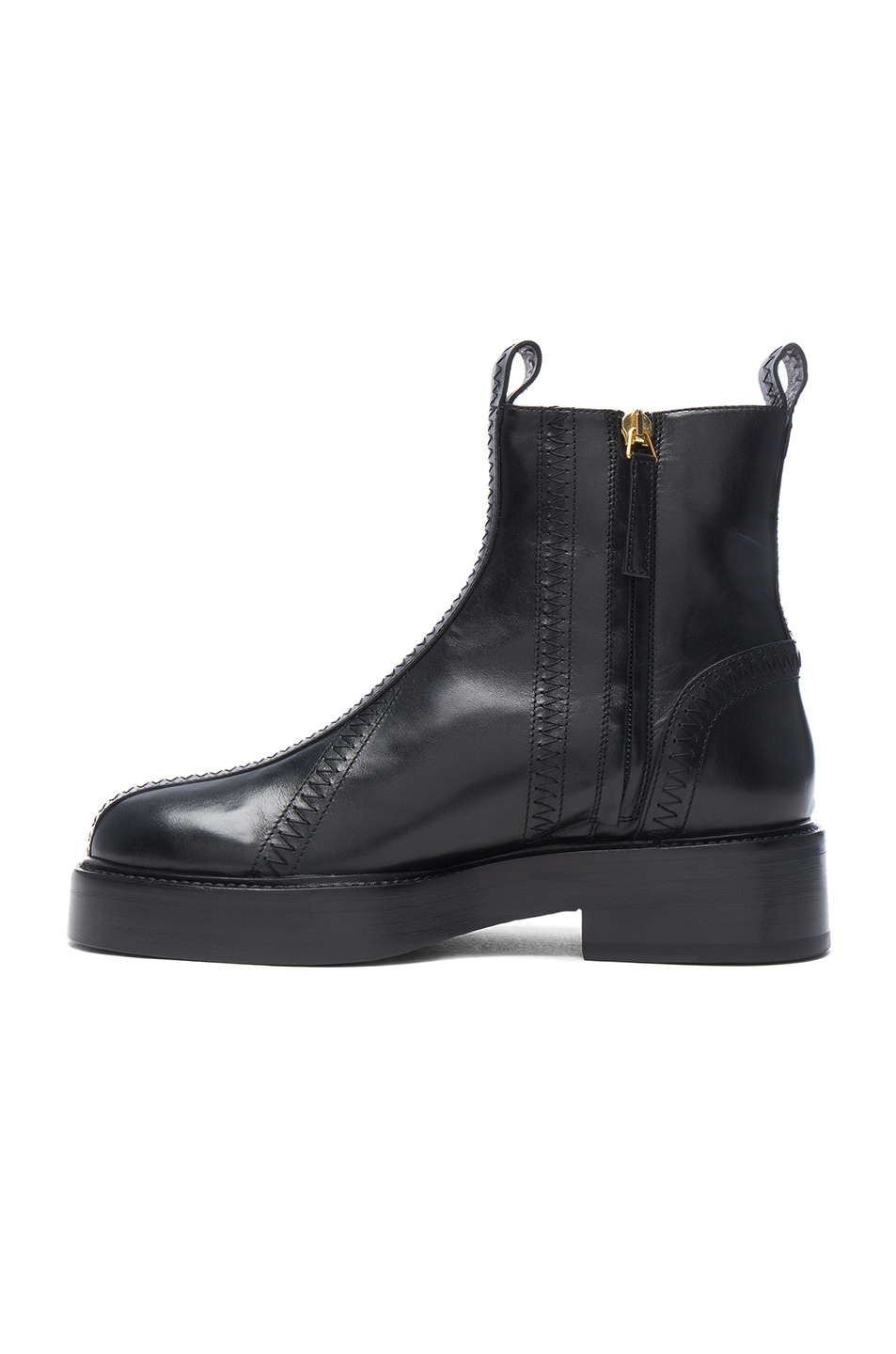 Image 5 of Ellery Leather Boots in Black & Gold