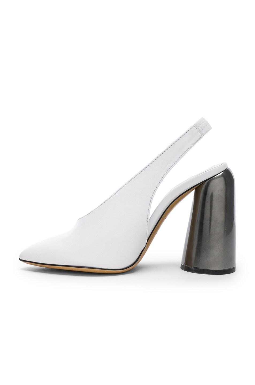 b51e534d53d Image 5 of Ellery Leather Slingback Heels in White
