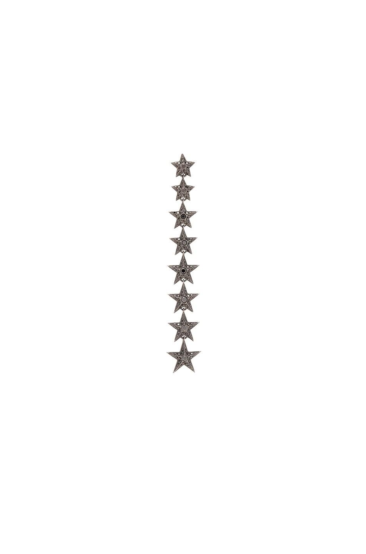 Image 1 of Elise Dray Falling Star Single Earring in Black Gold & Black Diamonds