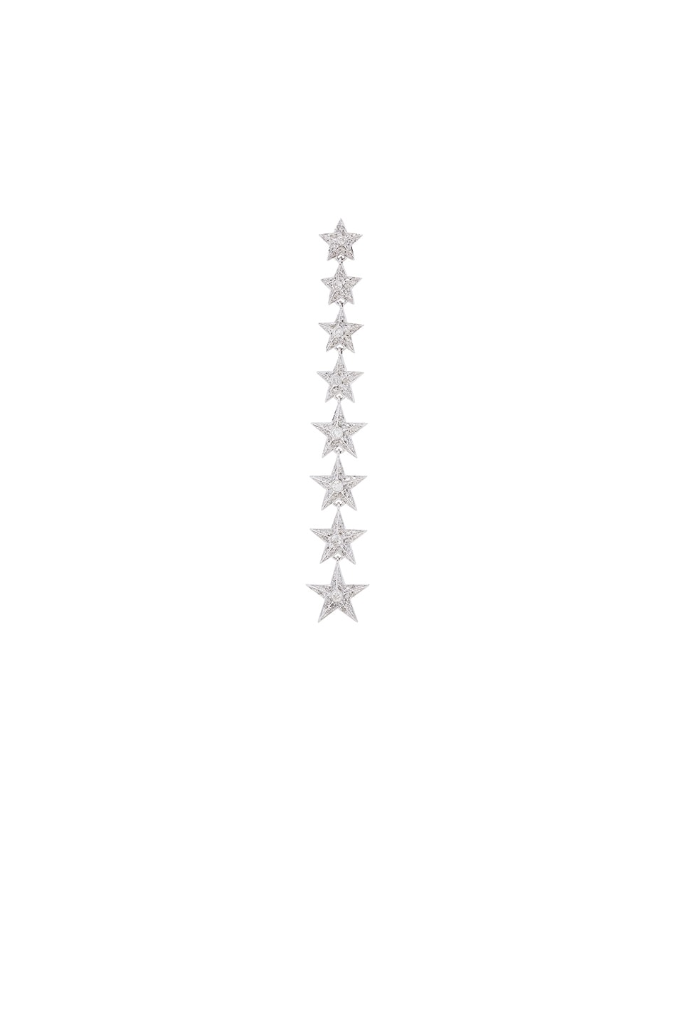 Image 1 of Elise Dray Falling Star Single Earring in White Gold & Grey Diamonds