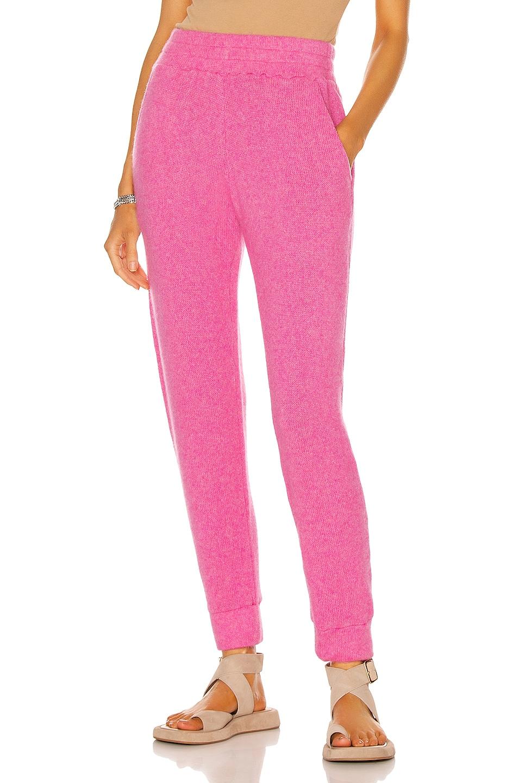 Image 1 of The Elder Statesman Pocket Heavy Jogger in Neon Pink