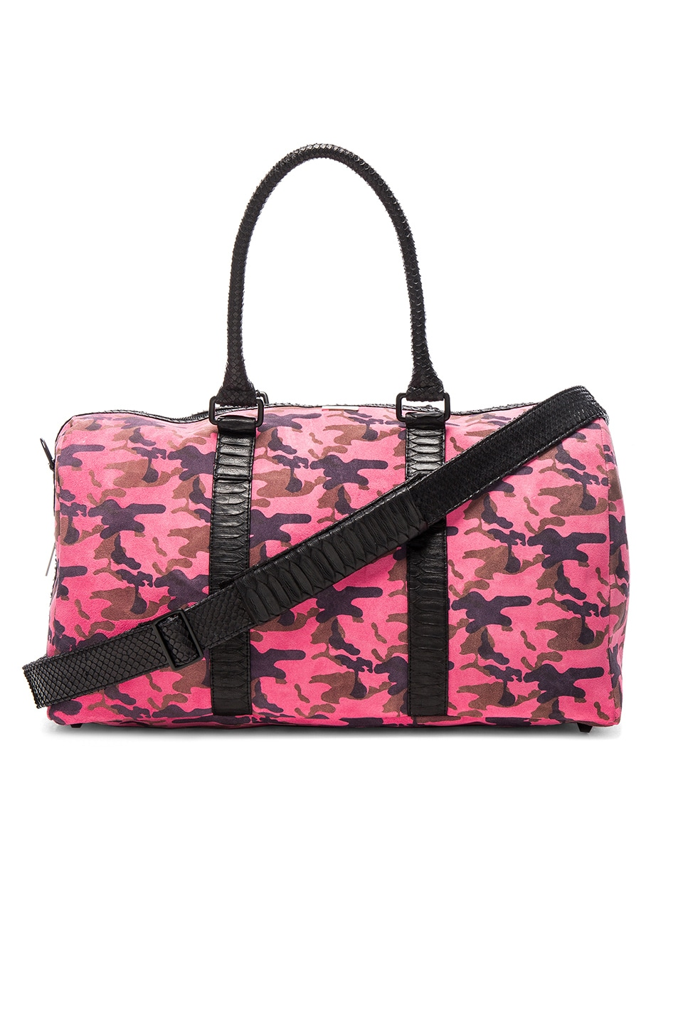 Image 1 of Elisabeth Weinstock Sardinia Duffle Bag in Pink Camo & Black Straps