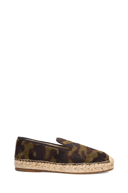 Image 1 of elysewalker los angeles Calf Hair Espadrilles in Camouflage