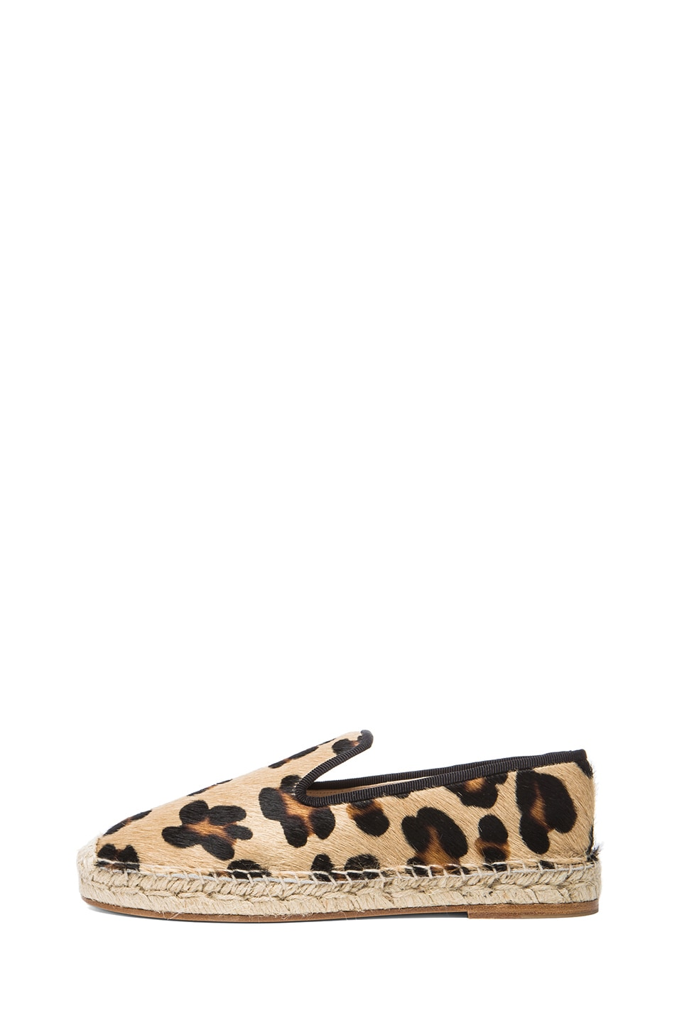 Image 1 of elysewalker los angeles Calf Hair Espadrilles in Leopard