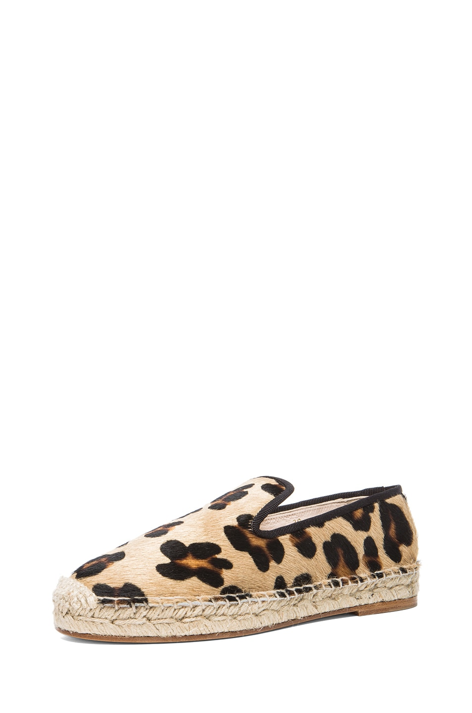 Image 2 of elysewalker los angeles Calf Hair Espadrilles in Leopard