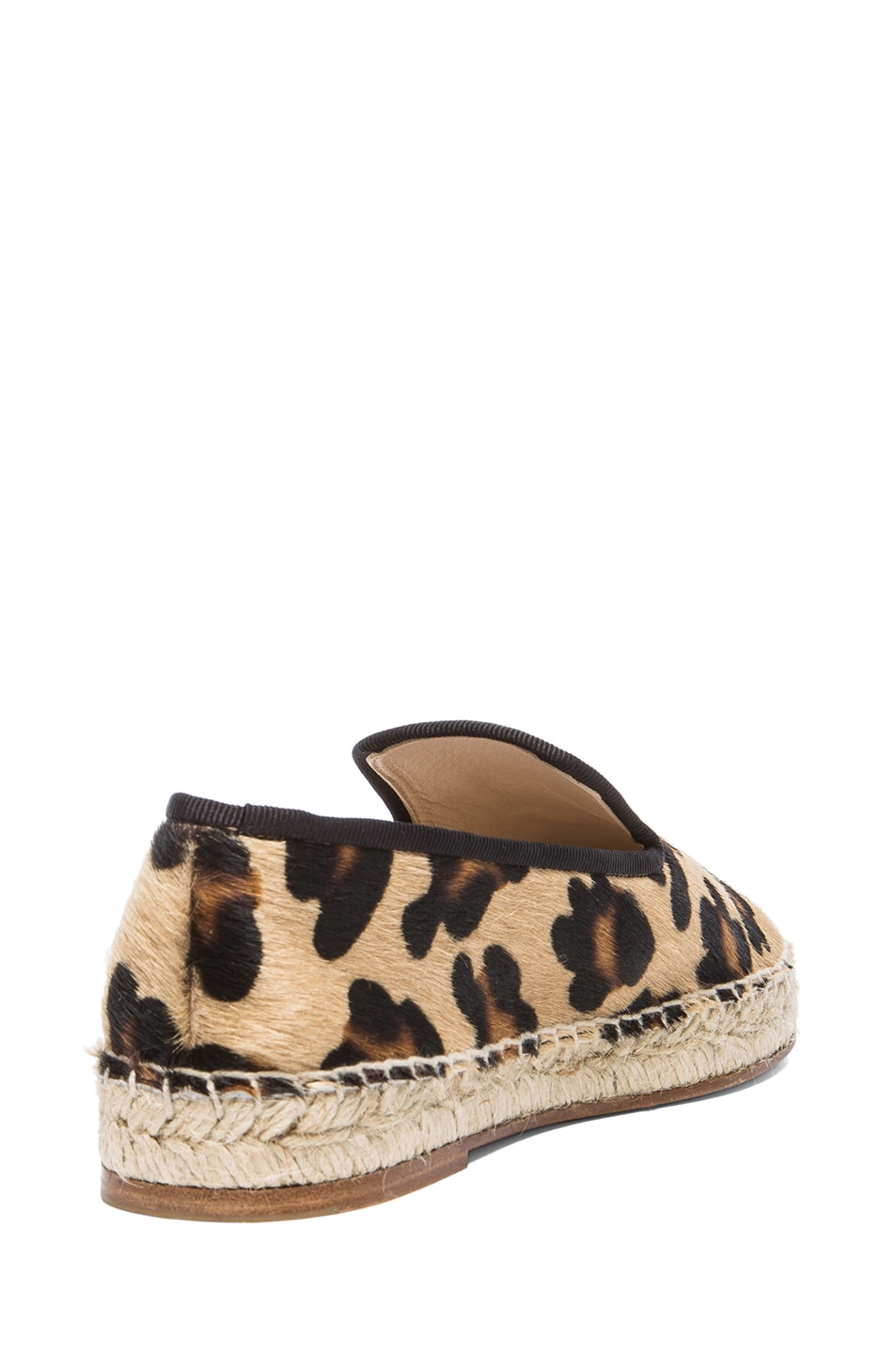 Image 3 of elysewalker los angeles Calf Hair Espadrilles in Leopard